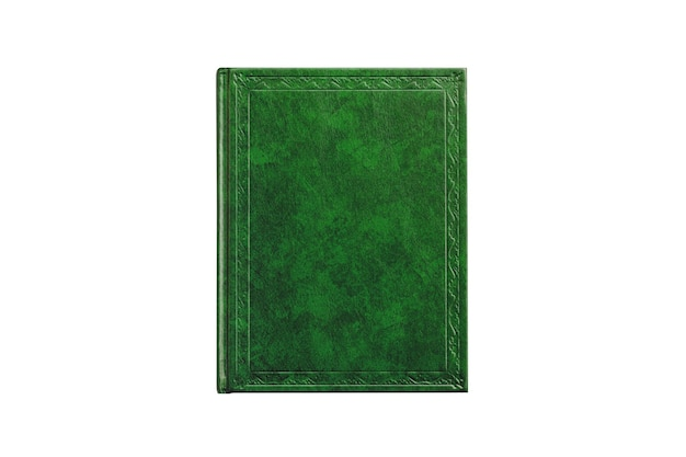 Book with cover green color isolated on white background
