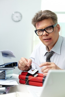 Bookkeeper preparing a weapon