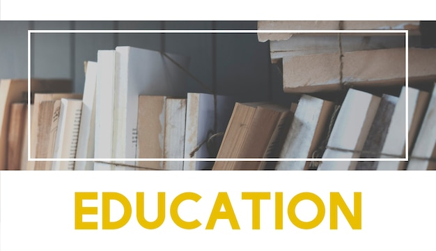 Books knowledge study education word graphic