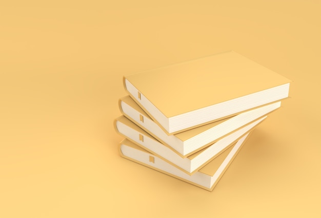 Books stack of textbook bookmark mockup style design
