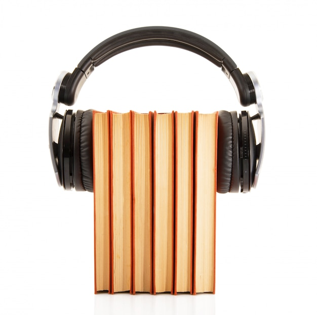 Books with headphones for digital reading