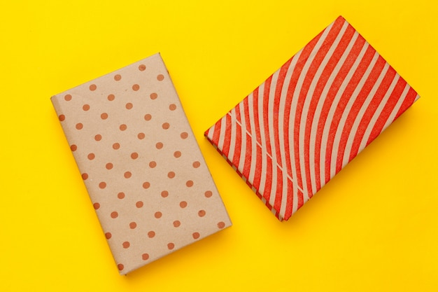 Books on a yellow background