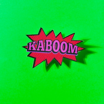 Boom sound effect design for comic green background