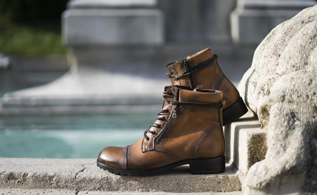 Ботинки кожаные туфли уличный стиль и стиль жизни