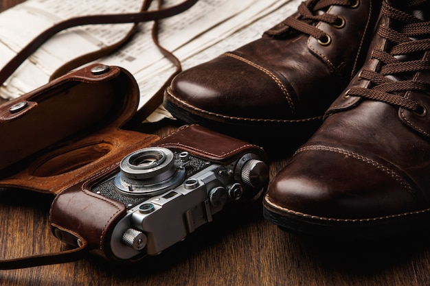 Boots and camera