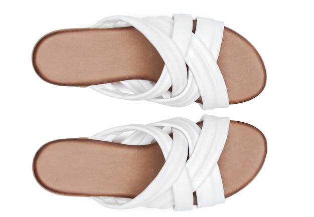 白い背景で隔離のブーツ。
