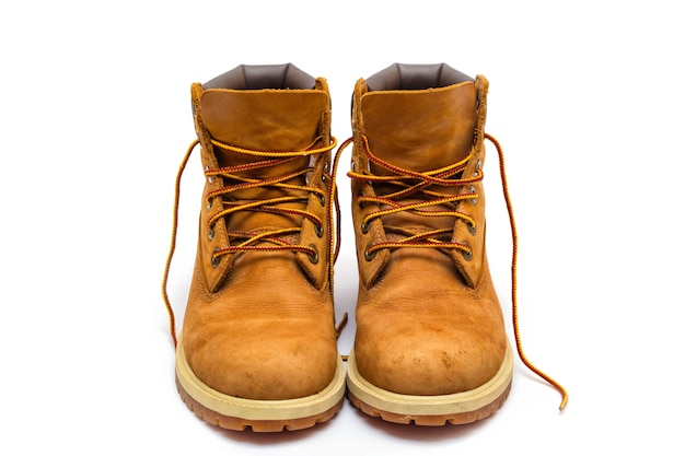 Boots  on a white background