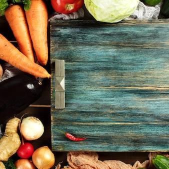 Бордюрная композиция из свежих овощей