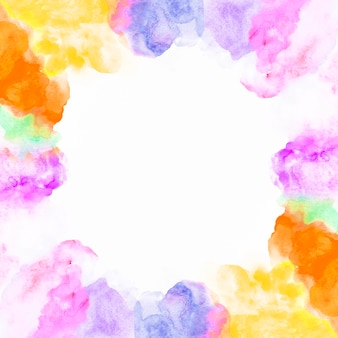 Border from colorful paint Free Photo