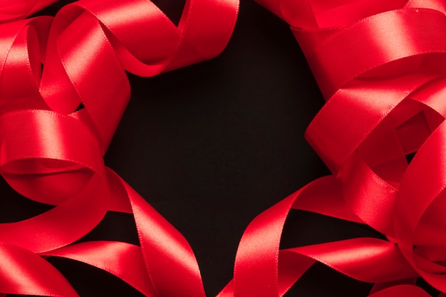Border from red ribbon