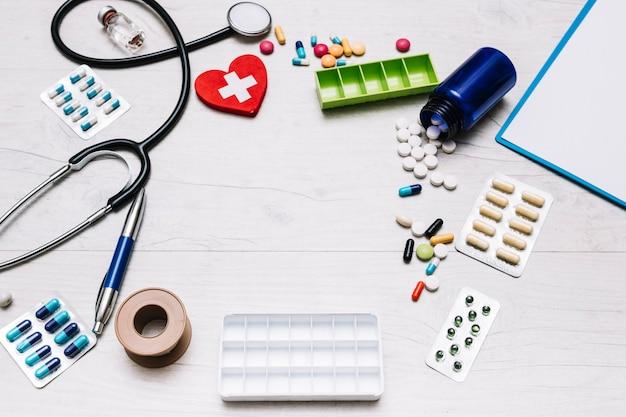 聴診器と丸薬からの境界