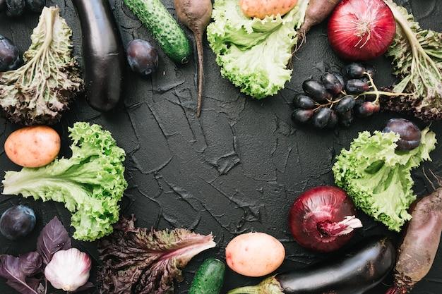 Border fron vegetables