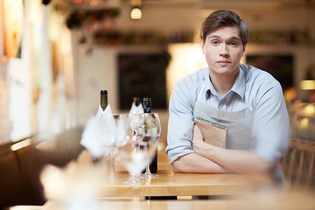 Bored waiter