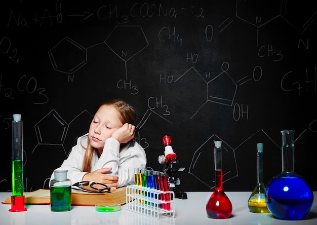 Скучный урок химии
