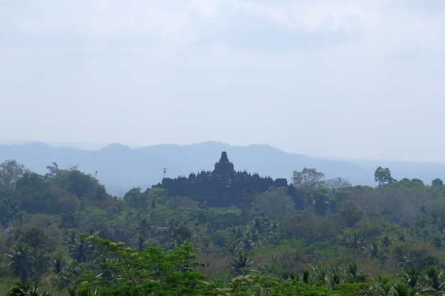 The borobudur buddhist temple great religious architecture in magelang central java indonesia