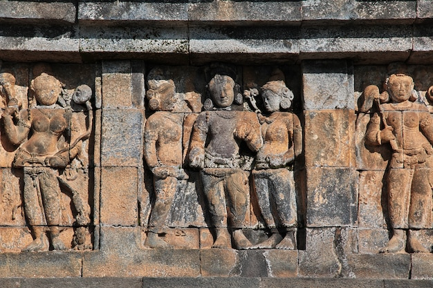 Borobudur, the great buddhist temple in indonesia