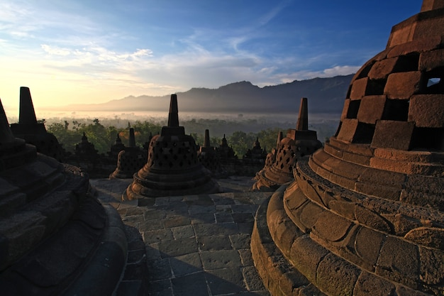 Borobudur temple stupa indonesia