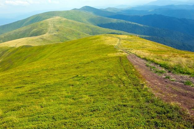 Borzhava - carpathians, 우크라이나에서 산의 전망
