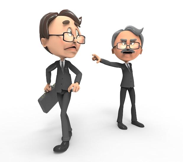 Boss dismiss an employee