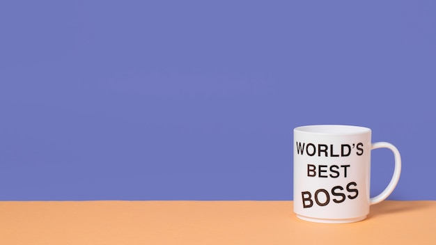 Boss's day arrangement with copy space