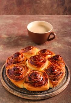 """Boston cake ã¢â€â"""" cinnamon buns arranged in cake"""