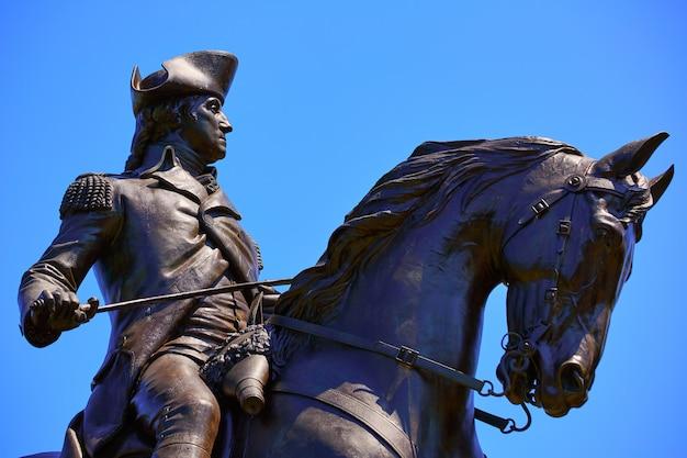 Boston common george washington monument