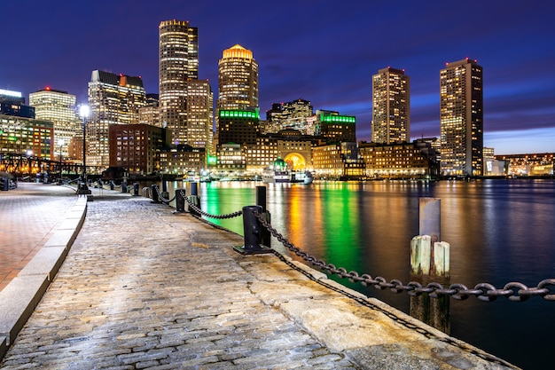 Boston downtont night
