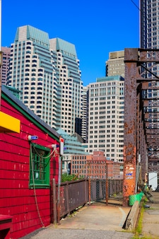 Boston northern avenue bridge in massachusetts