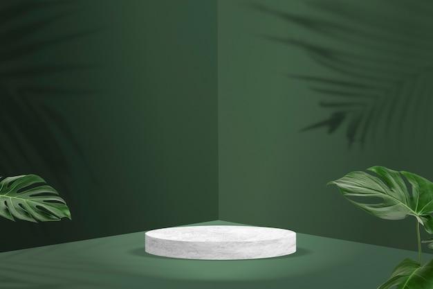 熱帯の葉と植物製品の背景