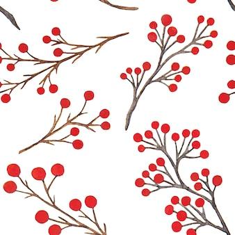 Botanical watercolor seamless pattern