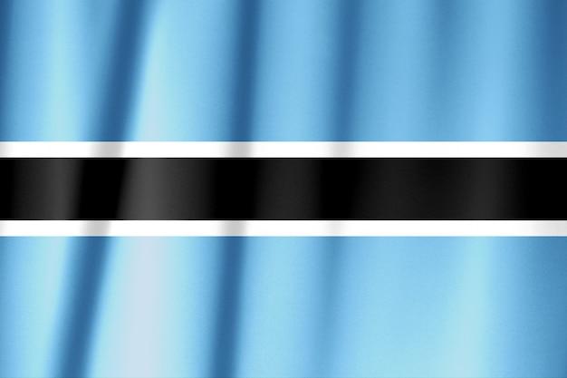 生地の質感にボツワナの旗パターン