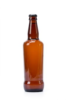 Bottle of beer on white