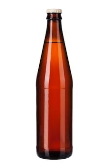Bottle of dark beer isolated