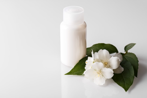 Bottle of jasmine body lotion