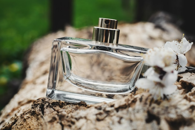 Bottle of modern perfume
