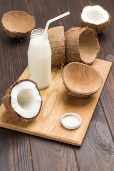 ココナッツミルクのボトル