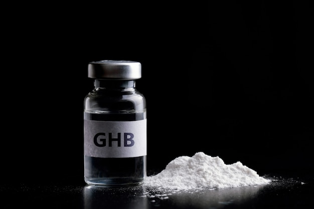 Бутылка ghb в черном ghb