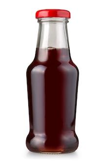 Бутылка сока, изолированные на белом фоне