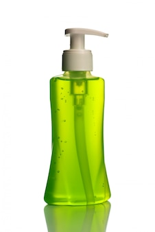 액체 비누 또는 크림 또는 세안제 디스펜서 또는 액체 마개 병.