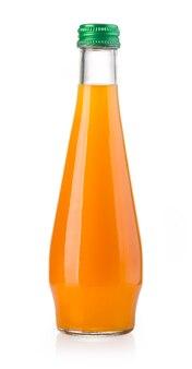 Бутылка апельсинового сока на белом