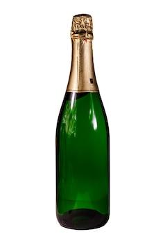 Бутылка шампанского, изолированные на белом фоне