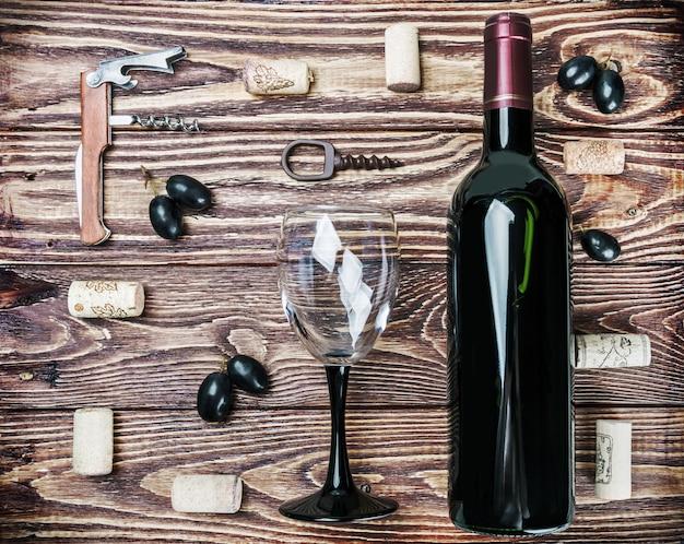 Бутылка вина и аксессуаров