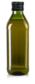 The bottle of olive oil isolated on a white background. file contains clipping path