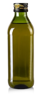 The bottle of olive oil isolated on a white.