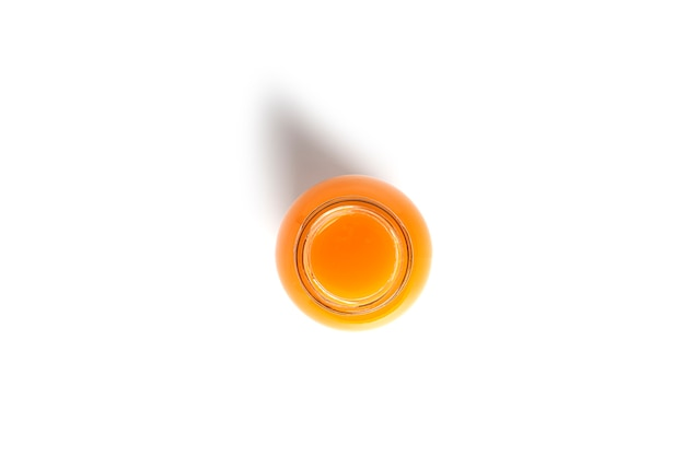 A bottle of peach juice isolated on a white background. high quality photo
