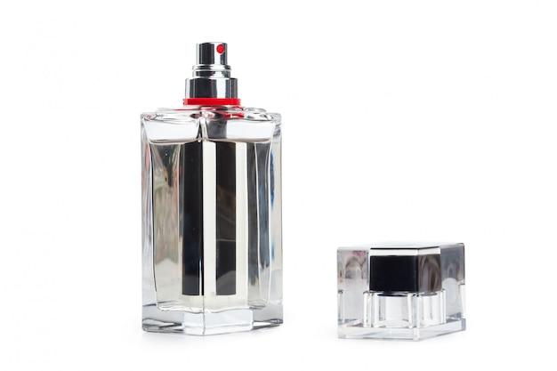Bottle of perfume isolated on white