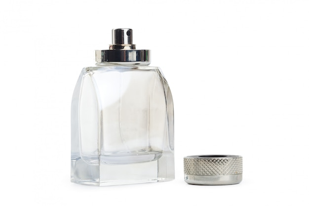 Bottle of perfume isolated of white