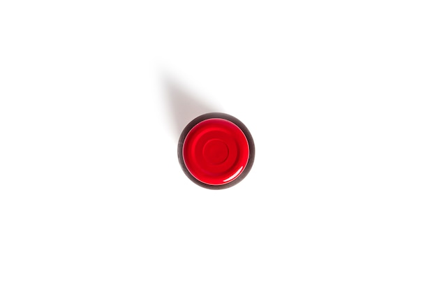 A bottle of pomegranate juice isolated on a white background. high quality photo