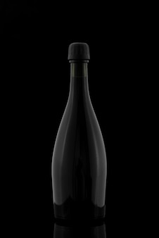Bottle shape with dark background
