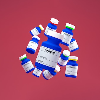 Bottle of vaccine for covid-19 coronavirus.